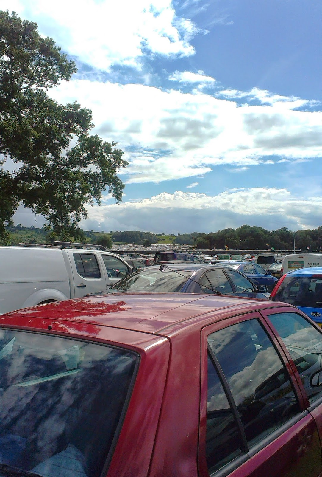 3pm - Glastonbury car parks