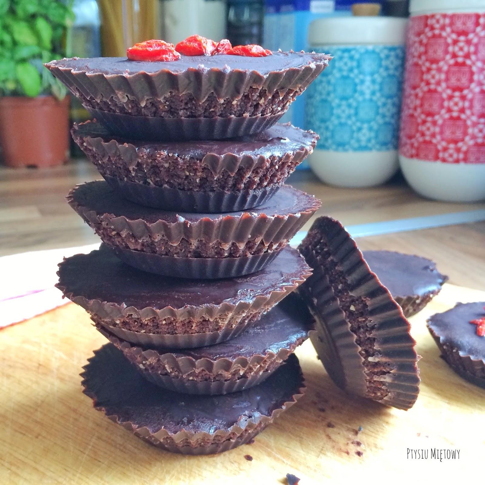 czekoladowe ciasteczka, ptysiu mietowy