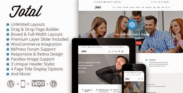 Total Responsive Multipurpose WordPress Theme 2015