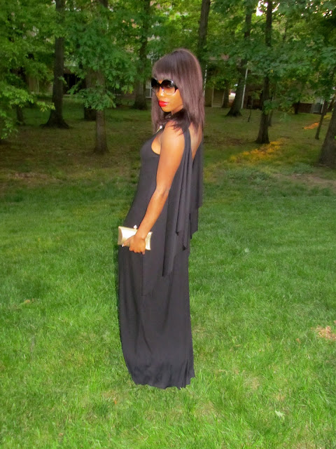 Maxi Dress Mode: Black Low Backless BCBG Max Azria Dress