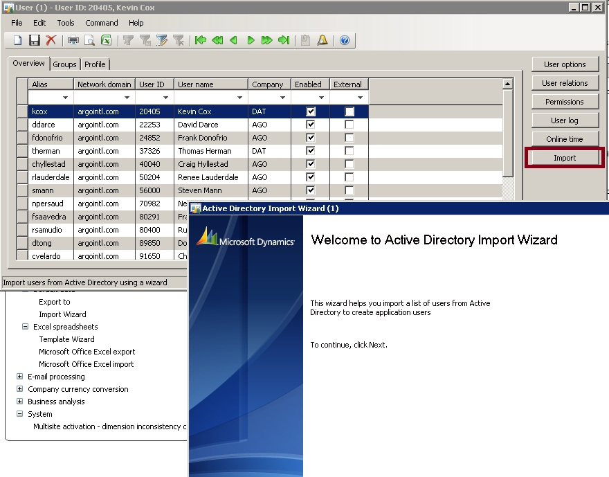 ax wonders error while trying to access active directory ax 2009