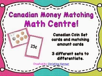 http://www.teacherspayteachers.com/Product/Make-a-Match-CANADIAN-coin-matching-game-for-Math-Centres-1183662
