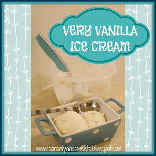 Very Vanilla Ice Cream ingredients: