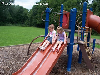 Sliding at the park from http://www.amamascorneroftheworld.com
