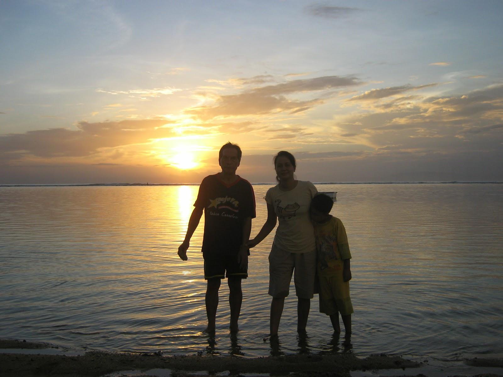 Bali Attractions Sunset at Sindu Beach