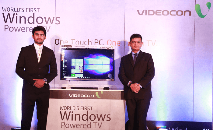 Videocon launching Windows 10 TV in India