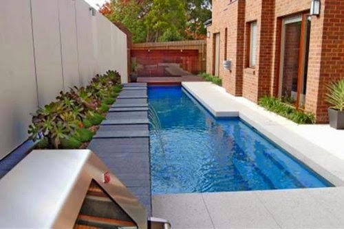 the back yard small swimming pool design