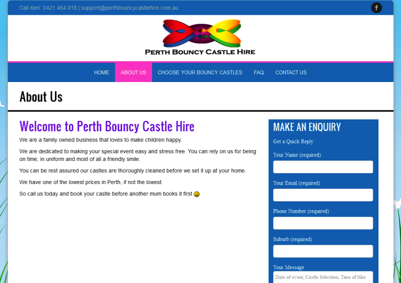 reputable bouncy castle hire company in Perth