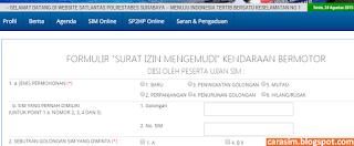 Cara Perpanjang SIM Online surabaya