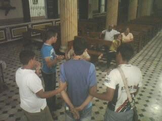 Preparación de la Representación de la Pasión para el día de Ramos 17/04/2011