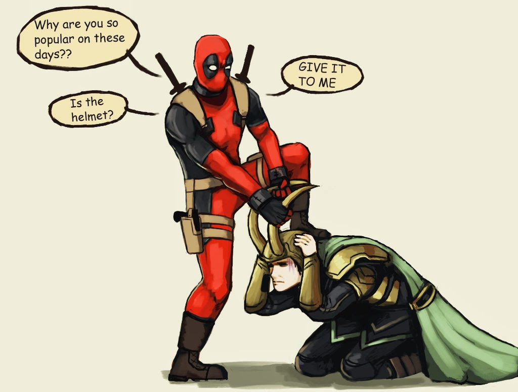Deadpool and Loki - I have no idea who made this image but I love that person