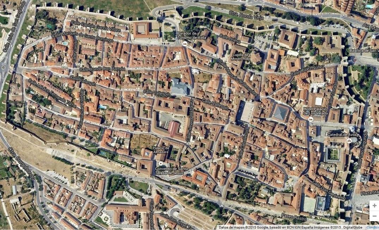 Vista aérea de la muralla de Ávila (España) - www.historiadelascivilizaciones.com