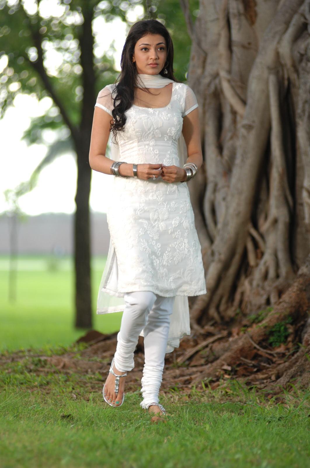 Kajal Agarwal In White Salwar Photo Gallery ~ Cinediary ...