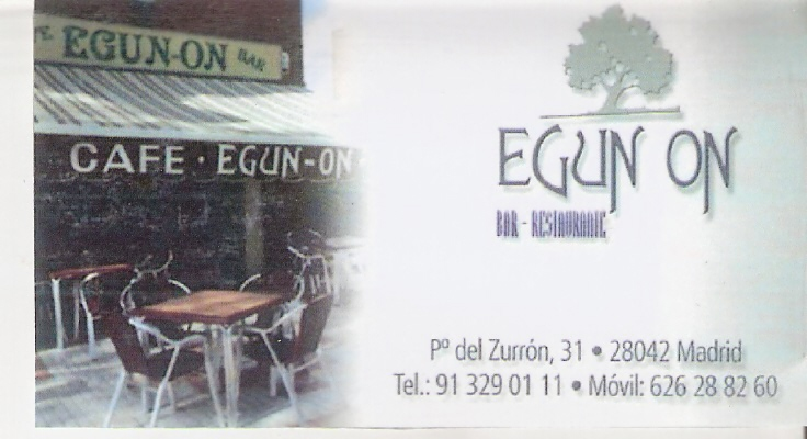 restaurante egun on