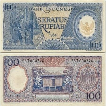 Uang Kertas 100 Rupiah 1964