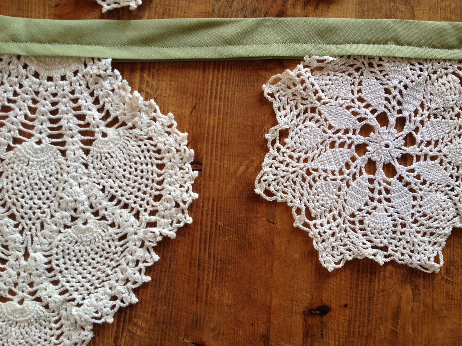 snowflake doily on garland