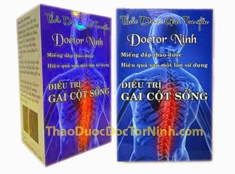 Điều trị bệnh thoái hóa cột sống bằng miếng đắp thảo dược Doctor Ninh