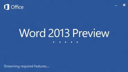 Word 2013 Splash Screen