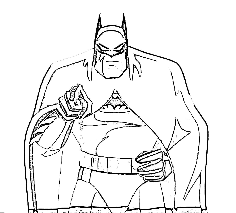 Batman Kids Coloring Pages