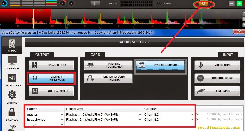 Cara seting sound virtualdj 8