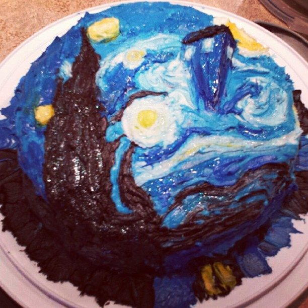 The Frazzled Crafter Doctor Who Van Gogh Birthday Cake