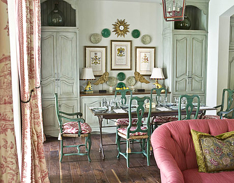 My faux french chateau antique french 18th century red for 18th century window treatments