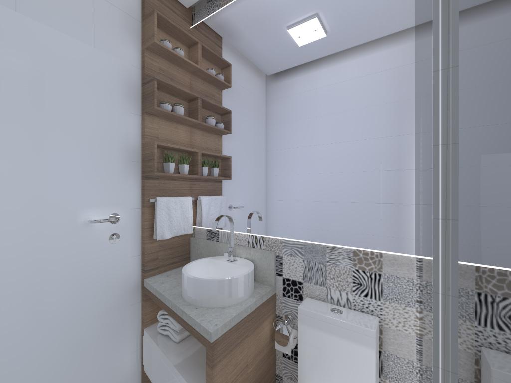 Projeto de interiores de um apartamento pequeno Banheiro. #586073 1024 768