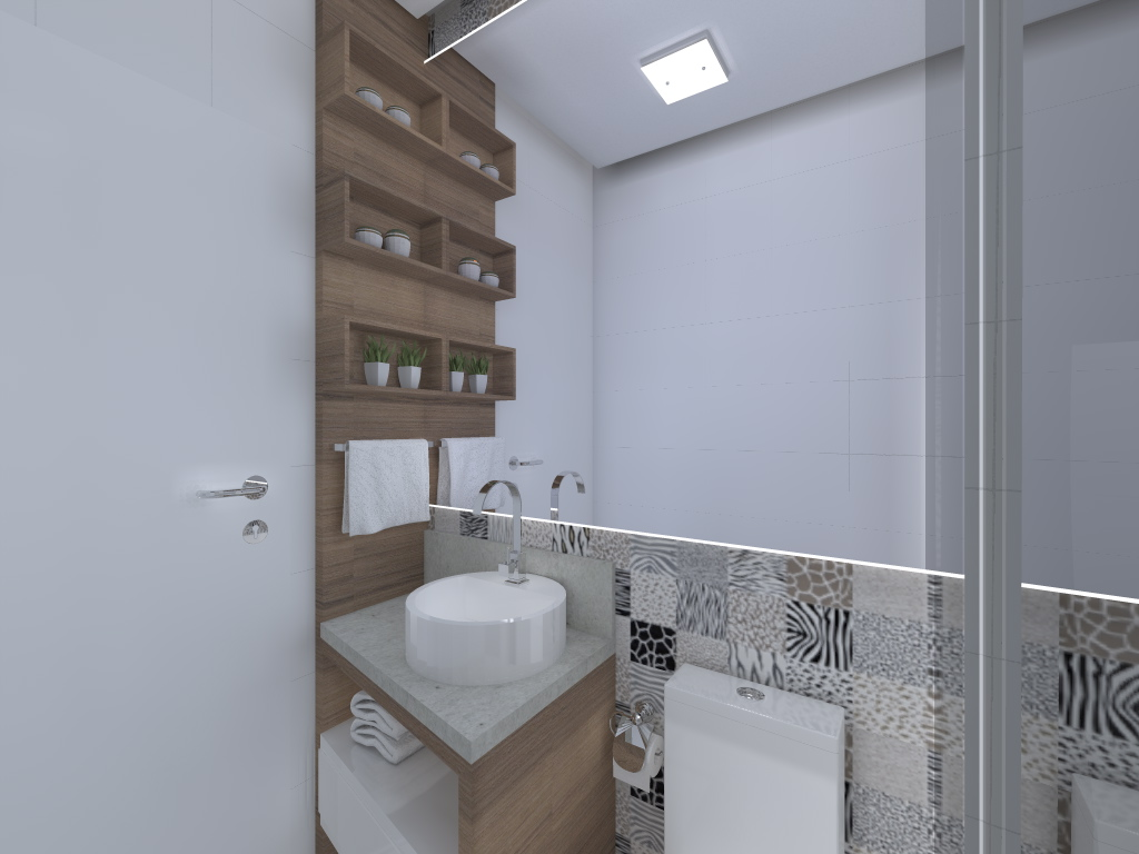 apartamento pequeno   banheiro   joana cm (1).jpg #586073 1024x768 Banheiro Bonito E Pequeno