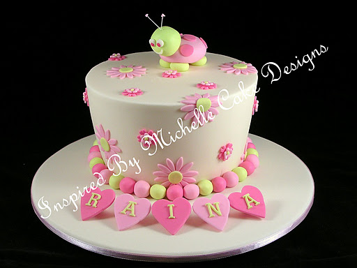 Design Of Baby Girl Birthday Cake : MuyAmeno.com: Tortas de Bautizo, Ninas