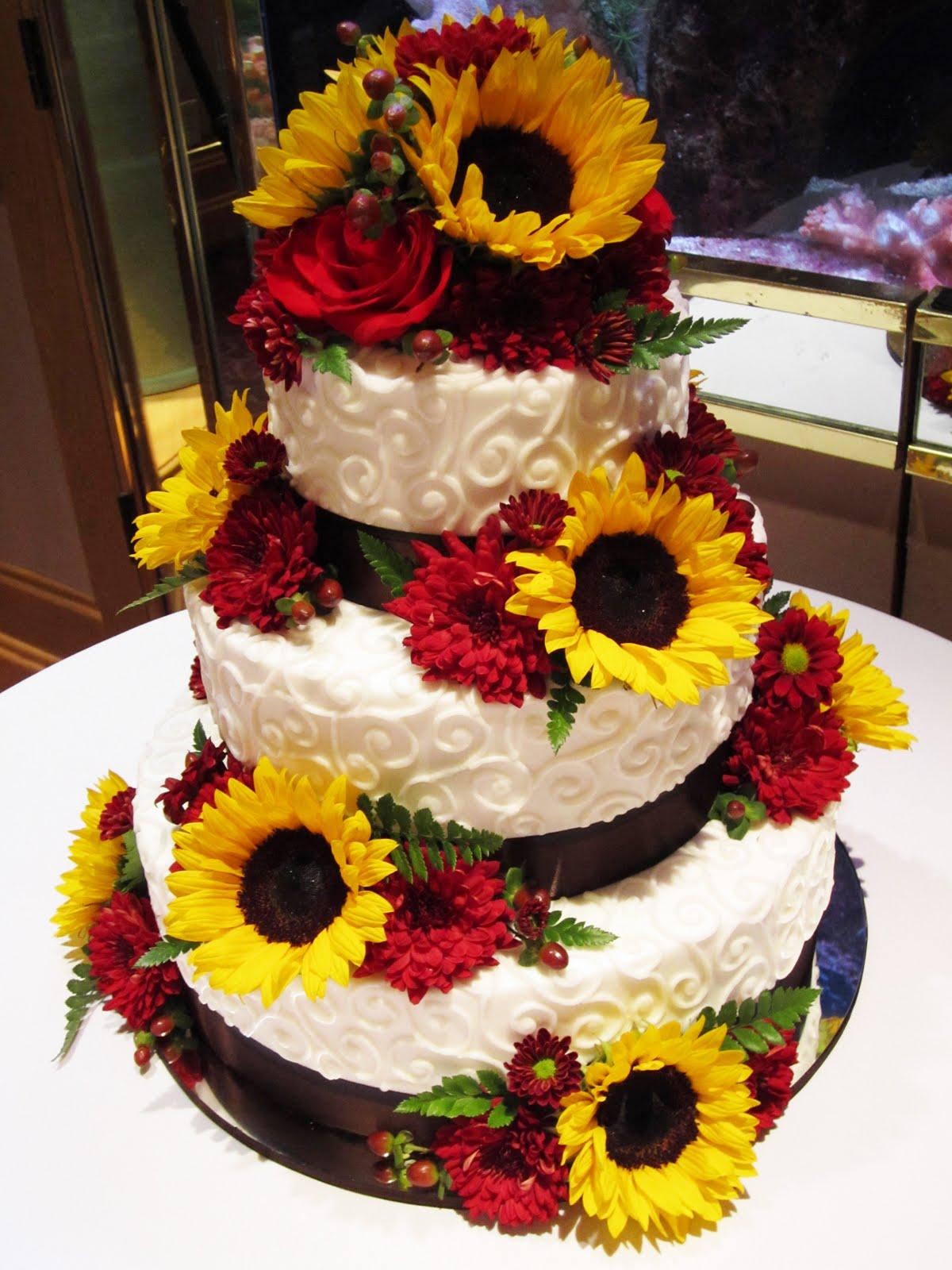 Cakes By Sarah Sunflower Wedding