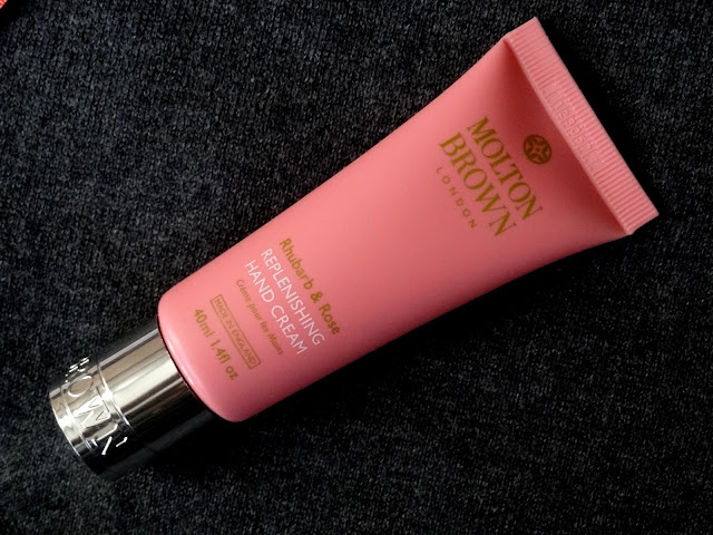 Molton Brown's Rhubarb and Rose Replenishing Hand Cream