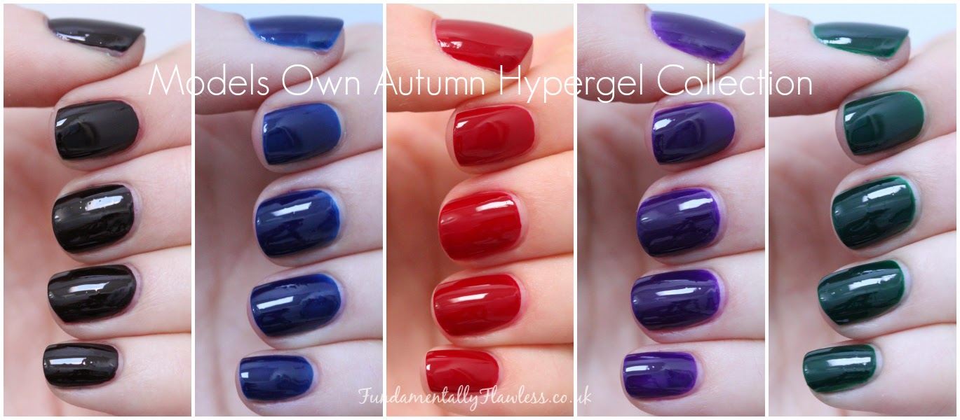 Models Own Autumn Hypergel Swatches and Review