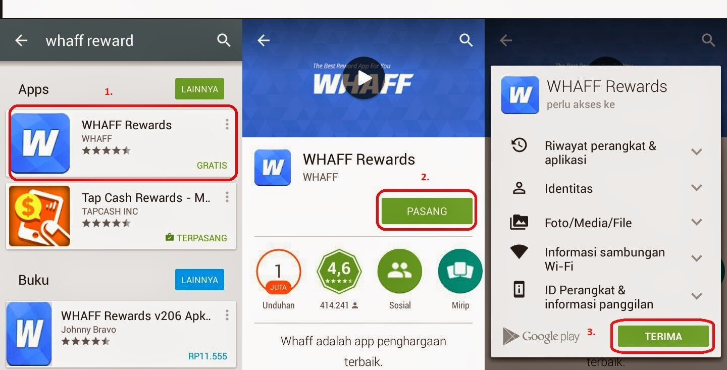 Tutorial mendownload aplikasi android terbaik whaff