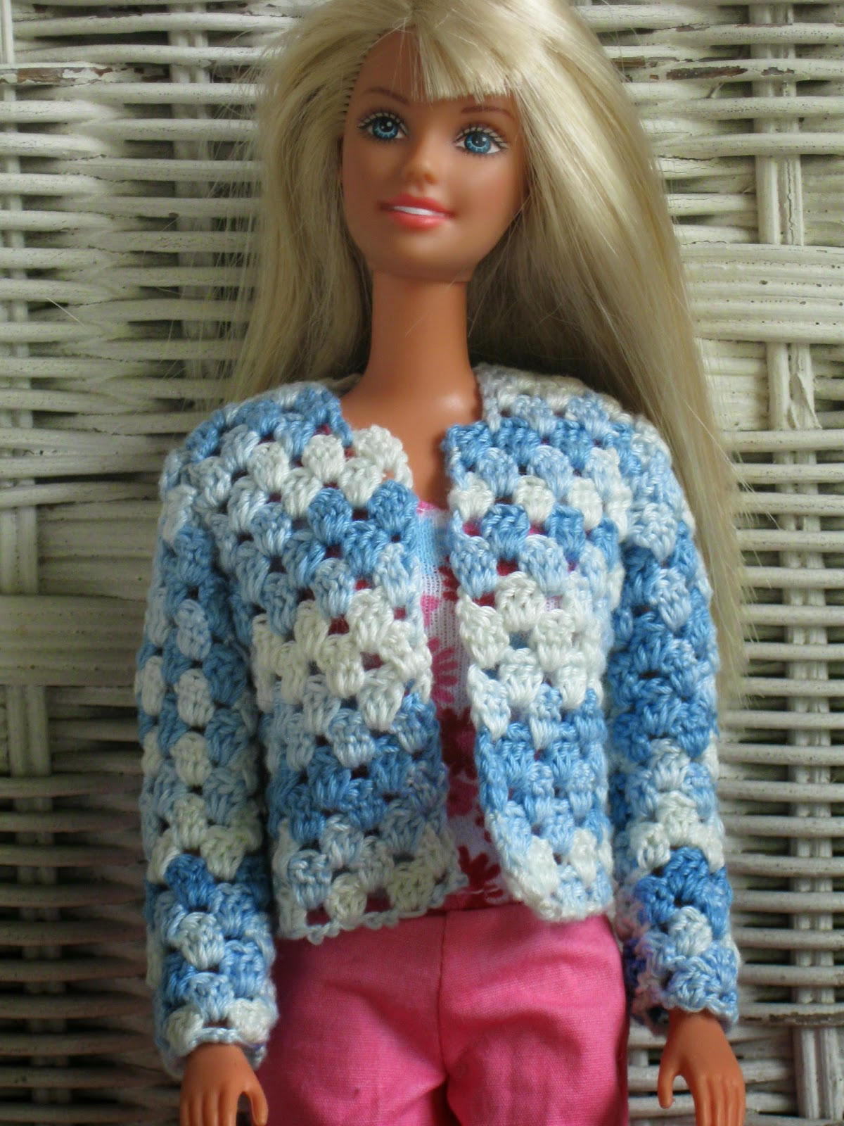 Haven Cottage Crafts: V-Stitch Cardigan for Barbie