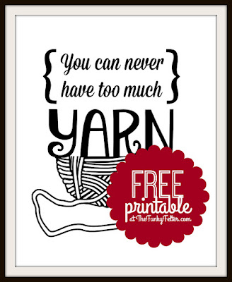 You can never have too much Yarn FREE Printable PDF Wall Art by Shalana at The Funky Felter