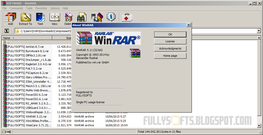 winrar 5.21 full version crack