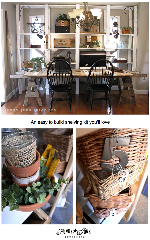 An easy to assemble shelving kit you will adore! Ikea GORM, I love you. And 4 ways I've used it in my home. via Funky Junk Interiors