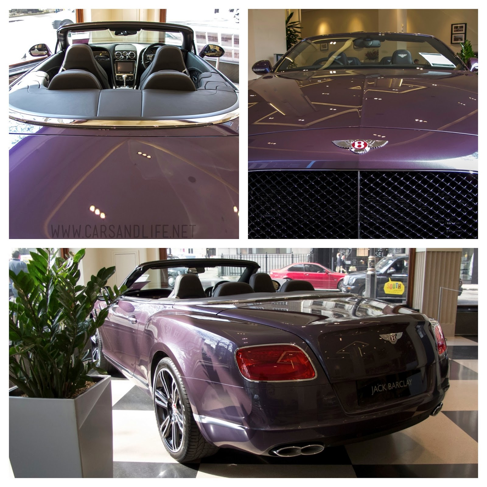 Purple Bentley Continental GTC In HR Owen, London