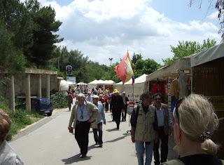 Straße zur Villa Romana del Casale