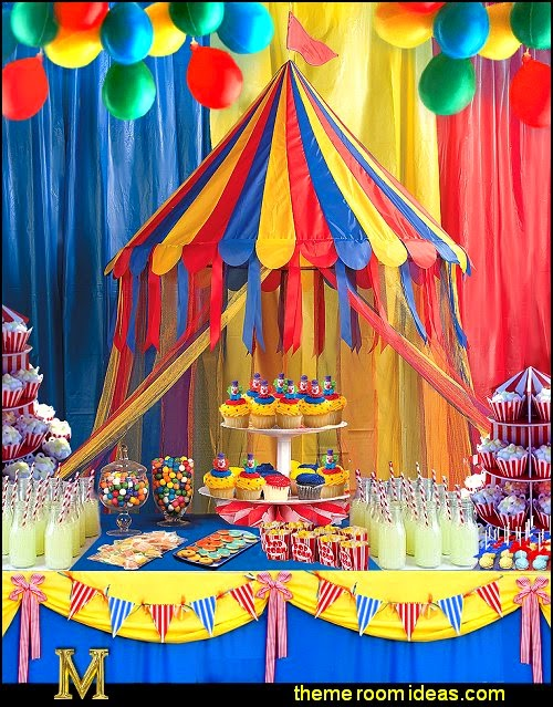 decorating theme bedrooms maries manor circus themed party decorations carnival circus. Black Bedroom Furniture Sets. Home Design Ideas