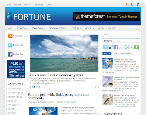 Fortune Blogger Theme