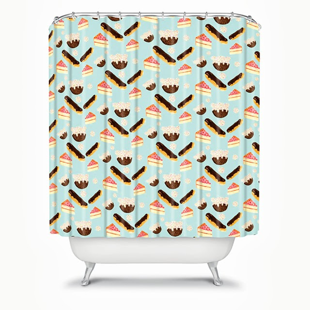 sweet things pattern shower curtain