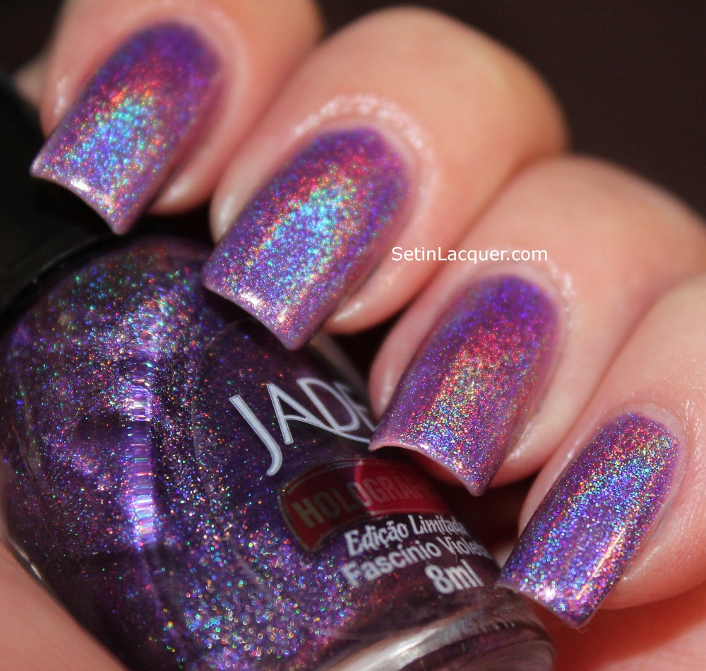 Jade Holographic Violeta swatches - Set in Lacquer