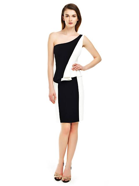 asimetirk kesim elbise, dama desenli elbise, siyah beyaz elbise, gece elbisesi, ofis elbisesi, kısa elbise