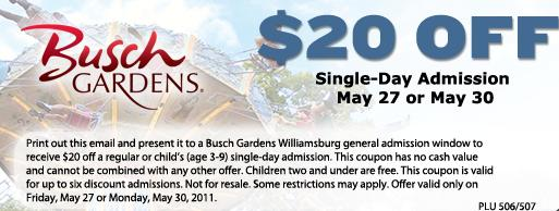 Busch Gardens Williamsburg Coupon Codes Coupon Popcap Games Buy Busch  Gardens Williamsburg Tickets Vacations Made Easy Skip The Lines With  Priority Access ...