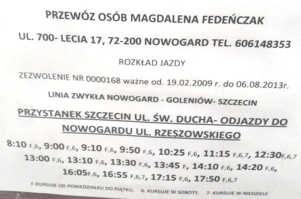 Busy Szczecin Goleniów