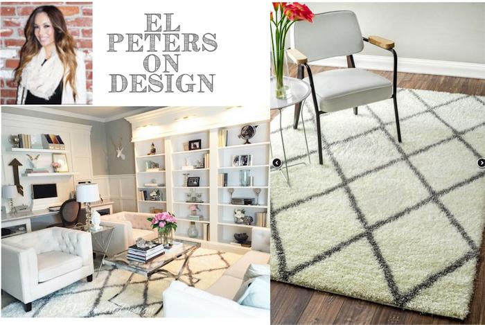 rugsusa moroccan diamond shag rug