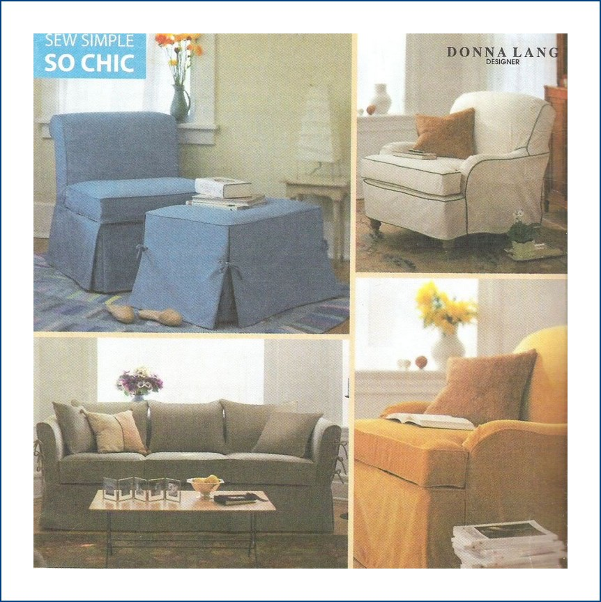 Sofa Slipcover No Sew: SimplySewing: Simplicity Sewing Pattern 8258 Sofa Chair