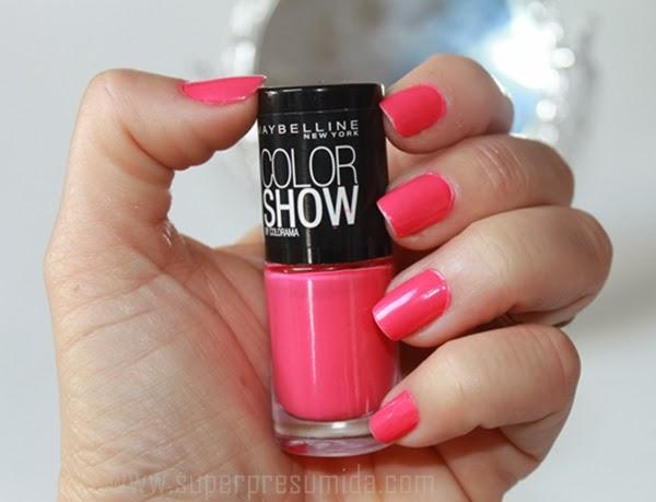unhas da semana, esmalte da vez, maybelline, pink bikini , shirley medeiros , superpresumida ,esmaltes