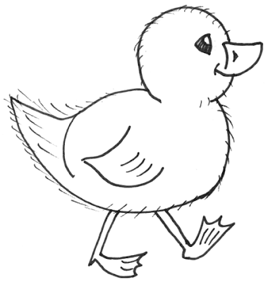 baby chicken cute animal coloring sheet for kids drawing and printing - Kids Drawing Sheet